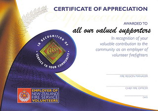 Employer Recognition Certificate