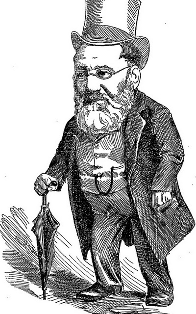 How the cartoonist in The Auckland Star saw Capt Willam Daldy in 1894