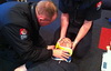 QFF Mason is 'treated' during First Aid training.